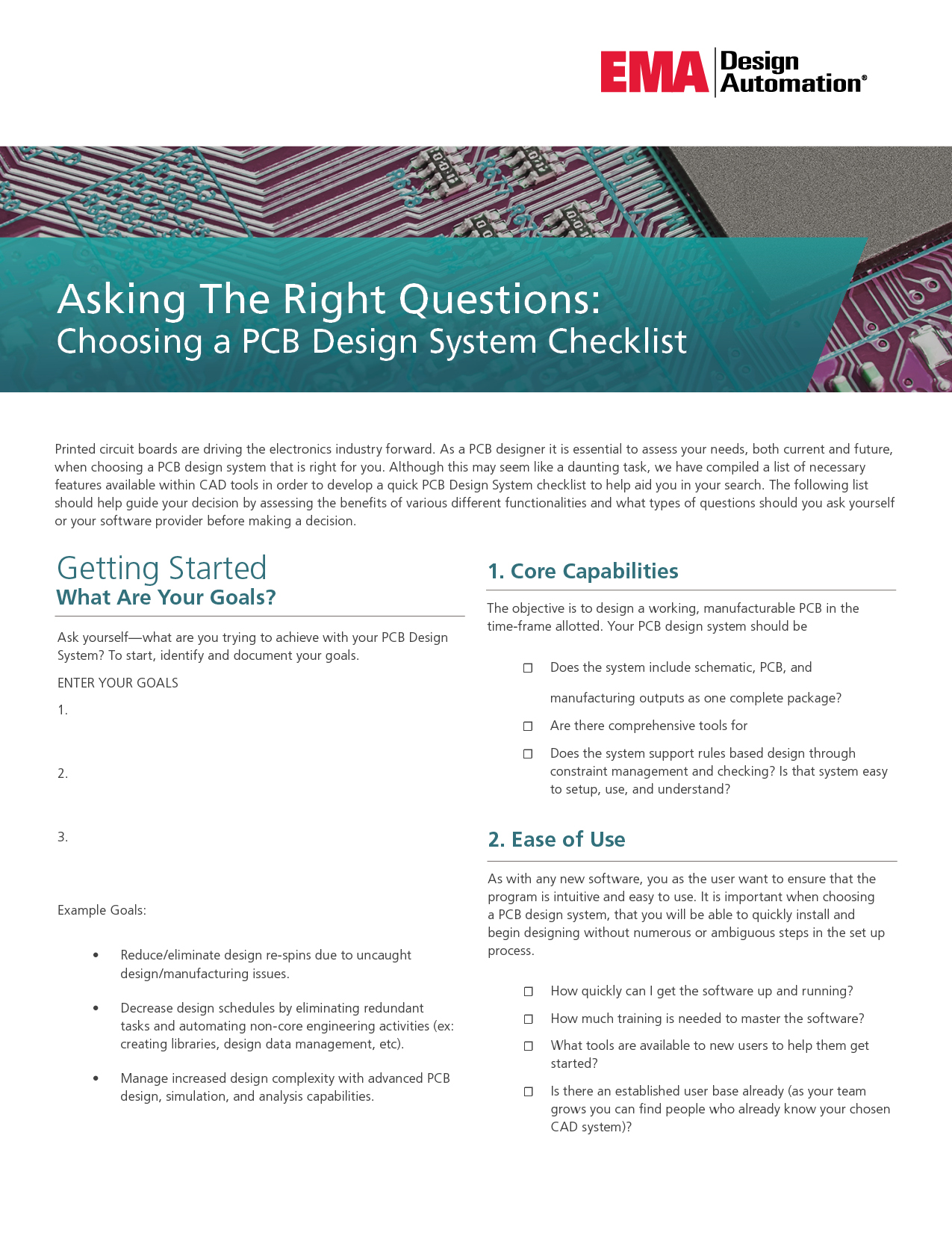Asking The Right Questions Choosing A Pcb Design System Checklist Ema Design Automation